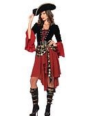 ieftine Cămașă-Pirat Costume Cosplay Costume petrecere Pentru femei Mai multe uniforme Crăciun Halloween Carnaval Festival / Sărbătoare Ținutele Negru / Roșu Peteci