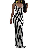 cheap Women's Dresses-Women's Sheath Dress - Striped Maxi