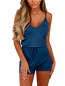 cheap Women's Jumpsuits & Rompers-Women's Going out / Weekend Romper High Rise Strap / Summer