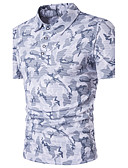 cheap Men's Tees & Tank Tops-Men's Street chic Cotton Polo - Camouflage Shirt Collar