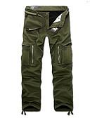 お買い得  メンズTシャツ&タンクトップ-男性用 ストリートファッション / 軍隊 ルーズ / チノパン / カーゴパンツ パンツ - ソリッド ブラック / 週末