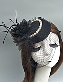 cheap Fashion Headpieces-Tulle Fascinators / Hats / Birdcage Veils with Feather 1 Event / Party Headpiece