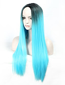 levne Tričko-Syntetické paruky / Paruky ke kostýmům Volný Umělé vlasy Modrá Paruka Dámské Dlouhý Bez krytky