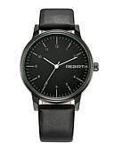 levne Vojenské hodinky-REBIRTH Pánské Náramkové hodinky Křemenný Nerez Černá Voděodolné Cool Analogové Klasické Módní - černá / oranžová Oranžová / bílá Černá / Bílá