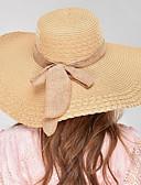 povoljno Ženske haljine-Žene Jednobojni Šešir / Vintage / Classic & Timeless Jedna boja, Lan - Šešir za sunce / Ljeto