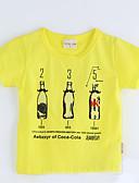preiswerte Kleidersets für Mädchen-Mädchen T-Shirt Geometrisch Baumwolle Sommer Kurzarm Gelb