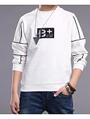 preiswerte Hosen für Jungen-Jungen Volltonfarbe T-Shirt, Baumwolle Frühling / Herbst Langarm Weiß Schwarz