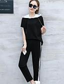 preiswerte Damen zweiteilige Anzüge-Damen Aktiv T-shirt - Solide Hose