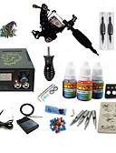 cheap Women's Dresses-Tattoo Machine Starter Kit - 1 pcs Tattoo Machines with 1 x 5 ml tattoo inks LCD power supply Case Not Included 1 damascus steel machine liner & shader