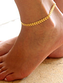 זול תחתוני נשים-תכשיט לקרסול - Leaf Shape אופנתי זהב / כסף עבור יומי / קזו'אל / בגדי ריקוד נשים