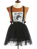 preiswerte Mode für Mädchen-Mädchen Kleidungs Set Geometrisch Baumwolle Sommer Kurzarm Braun