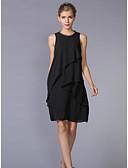 preiswerte Damen Kleider-Damen Übergrössen Arbeit A-Linie Kleid Solide Knielang