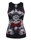 ieftine Bluze & Camisole Femei-Pentru femei Tank Tops Decupată Imprimeu Poliester