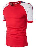 baratos Camisetas & Regatas Masculinas-Homens Camiseta - Festa Moda de Rua Estampa Colorida Algodão Decote Redondo