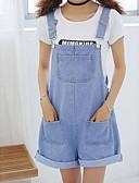 baratos Calças Femininas-Mulheres Cintura Alta Solto macacão Calças - Sólido