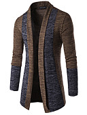cheap Men's Sweaters & Cardigans-Men's Basic Long Sleeve Butterfly Sleeves Slim Cardigan - Color Block, Patchwork Shawl Lapel