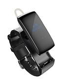 baratos Pulseiras Smart & Monitores Fitness-Homens Relógio inteligente Chinês Monitor de Batimento Cardíaco / Calendário / Impermeável Couro Legitimo Banda Amuleto Cores Múltiplas / Pedômetros