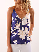 cheap Women's Blouses-Women's Going out Holiday Street chic Tank Top - Floral Racerback Strap