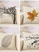 cheap Sport Watches-4 pcs Cotton / Linen Pillow Cover / Pillow Case, Botanical / Novelty / Classic Classical / Retro / Traditional / Classic