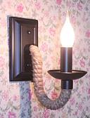 billige Damekjoler-Rustikk / Hytte / Antikk / Vintage Vegglamper Metall Vegglampe 110-120V / 220-240V 45W
