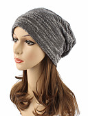cheap Women's Hats-Women's Active / Street chic Cotton Beanie / Slouchy / Floppy Hat - Solid Colored / Cute / Fall / Winter