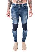 זול מכנסיים ושורטים לגברים-בגדי ריקוד גברים סגנון רחוב סקיני מכנסיים אחר