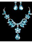 tanie Breloki-Damskie Biżuteria Ustaw - Kwiat Zawierać Fioletowy / Niebieski Na Ślub Impreza Specjalne okazje Rocznica Urodziny