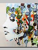זול תחתוני נשים-ציור שמן צבוע-Hang מצויר ביד - אנשים מופשט (אבסטרקטי) מודרני בַּד