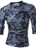 cheap Men's Shirts-Men's Sports Active T-shirt - Camouflage / Long Sleeve