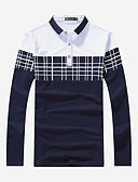 cheap Men's Polos-Men's Sports Work Active Street chic Plus Size Polo - Solid Colored Striped Color Block