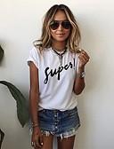 cheap Women's T-shirts-Women's Going out Street chic Puff Sleeve Cotton T-shirt Print