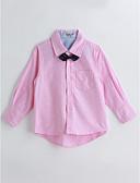 baratos Roupas de Meninas-Para Meninos Camisa Sólido Estampa Animal Primavera Outono Algodão Manga Longa Rosa