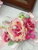 "baratos Véus de Noiva-Bouquets de Noiva Buquê de Pulso Casamento Chifon Seda Algodão Cetim 1.97""(Aprox.5cm)"