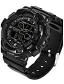 זול להקות Smartwatch-בגדי ריקוד גברים שעוני ספורט חכמים שעונים שעון יד דיגיטלי סיליקוןריצה שחור / לבן / כחול 30 m לוח שנה חשמל סולרי LED דיגיטלי יום יומי אופנתי - ירוק כחול חאקי שנתיים חיי סוללה / מתכת אל חלד / שעון עצר
