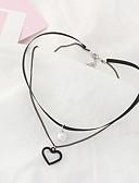 ieftine Rochii de Damă-Pentru femei Coliere Choker - Inimă Modă, Euramerican Alb, Negru Coliere Bijuterii Pentru Zilnic