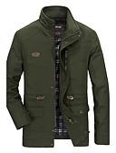 お買い得  メンズジャケット&コート-男性用 プラスサイズ ジャケット スタンド ソリッド