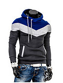 cheap Men's Hoodies & Sweatshirts-Men's Long Sleeves Sweatshirt - Solid Colored Round Neck
