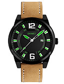 cheap Quartz Watches-Men's Sport Watch Military Watch Smartwatch Quartz Digital 50 m Calendar / date / day Creative Cool Genuine Leather Band Analog Charm Casual Fashion Multi-Colored - Yellow Green Blue / Large Dial