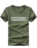 cheap Men's Tees & Tank Tops-Men's Active Plus Size Cotton T-shirt Stylish Print Round Neck