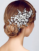 cheap Fashion Headpieces-Crystal Tiaras Headbands Flowers Headwear with Floral 1pc Wedding Special Occasion Anniversary Housewarming Party / Evening Office &
