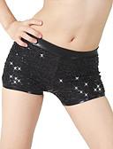 abordables Vestidos de Mujeres-Jazz Pantalones y Faldas Mujer Rendimiento Licra Lentejuela Cintura Media Pantalones cortos / Danza Moderna / Desempeño