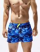 cheap Men's Swimwear-Men's Sporty Bottoms - Camouflage Print Board Shorts / 1 Piece / Super Sexy