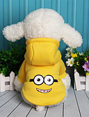 billige Dametopper-Hund Genser Hundeklær Tegneserie Lilla Gul Rød Blå fleece Bomull Kostume For kjæledyr Fritid/hverdag