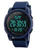 cheap Military Watches-SKMEI Men's Sport Watch / Military Watch / Wrist Watch Japanese Alarm / Calendar / date / day / Chronograph PU Band Fashion Black / Blue / Green / Water Resistant / Water Proof / Dual Time Zones