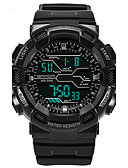 cheap Fashion Watches-Men's Sport Watch Water Resistant / Water Proof / Luminous / Cool Plastic Band Black / Green / Grey