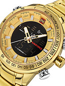 cheap Mechanical Watches-Men's Wrist Watch Japanese Water Resistant / Water Proof / Luminous / Noctilucent Stainless Steel Band Charm / Luxury / Casual Black / Gold / Large Dial / Maxell2025 / Two Years