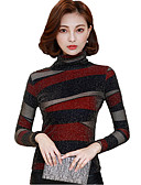 ieftine Tricou-Pentru femei Guler Pe Gât Tricou Bumbac Imprimeu