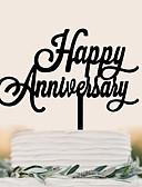 baratos Decorações de Bolo-Decorações de Bolo Aniversário Casamento Alta qualidade Plástico Festa Aniversário com 1 Bolsa PVS
