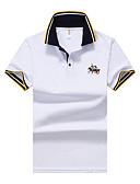 お買い得  メンズTシャツ&タンクトップ-男性用 ベーシック Polo シャツカラー ソリッド ブルー XL / 半袖 / 夏