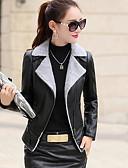 olcso Női blézer és dzseki-Egyszerű Női Kožnate jakne - Egyszínű